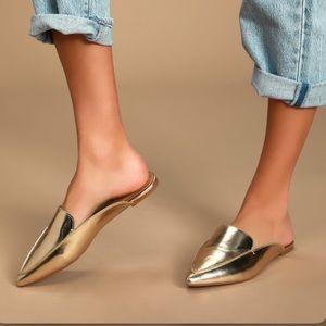 Joelle Gold Loafer Slides